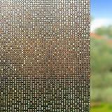 Rabbitgoo 窓用フィルム 目隠しシート 断熱/紫外線カット 無接着剤 再利用可能 (薄墨 44.5 x 200cm)