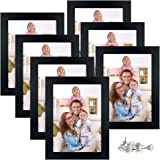 Giftgarden Picture Photo Frames Set Compatible with Wall Tabletop, Black