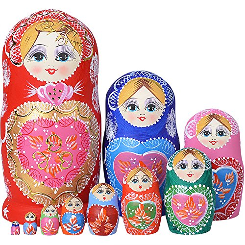 YAKELUS専業マトリョーシカ人形 ブランド10層手作り プレゼント おもちゃ1051