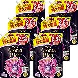 【ケース販売】ソフラン アロマリッチ 柔軟剤 ジュリエット(スイートフローラルの香り) 詰替 1125ml×6個