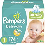 Diapers Size 1, 160 Count - Pampers Baby Dry Disposable Baby Diapers, Giant Pack