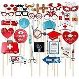 2019 医師 看護師 卒業パーティー 写真ブース小道具 卒業パーティー 装飾キット 歯科医 看護師 38個セット