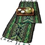 イカット(ロング) D 【インドネシアの飾り布、テーブルランナー タペストリー 壁掛け 箪笥の上掛け】 約180×39cm、和風洋風を問わず便利に使えるインテリアクロス