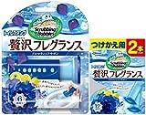 【まとめ買い】 スクラビングバブル トイレ洗剤 トイレスタンプクリーナー贅沢フレグランス アロマティックサボンの香り 本体(ハンドル1本)+付替用3本セット 38g×3本