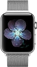 BRG コンパチブル apple watch バンド,ミラネーゼループ コンパチブルアップルウォッチバンド コンパチブル アップルウォッチ4 コンパチブルapple watch series4/3/2/1に対応 ステンレス留め金製(42mm/44mm,シルバー)