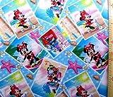 キャラクター生地・USAコットンミッキー&ミニーマウス(ミニーマウス・ブルー)#71