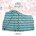 BIKOT(ビコット)自転車カバー サイクルカバー 防水加工 3人乗り 子供乗せ対応 和柄 20~28インチ対応 (UROKO)