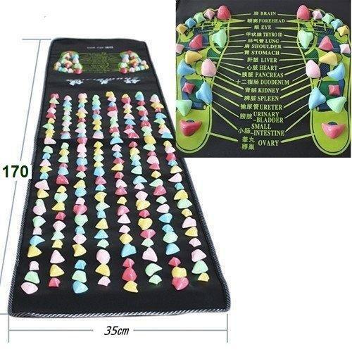 本物の健康 フットマッサージ 足のマッサージパッド 模造石畳...