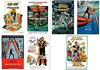 007 James Bond Roger Moore (ジェームスボンド ロジャー ムーア) ポストカード 7枚セット [並行輸入品]