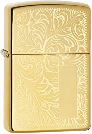 Zippo Adult-Unisex 352B High Polish Brass Venetian Lighter
