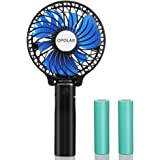 OPOLAR Small Handheld Battery Operated Face Fan with 2 Batteries, Portable & Rechargeable, Folding Design, Strong Airflow, 3