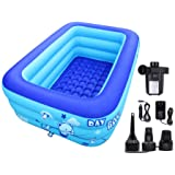 ECOiNVA Inflatable Swimming Pool Hot Tubs Bathtubs Inflated Tubs with Electric Air Pump Inflator Folding Durable Adult Bath T