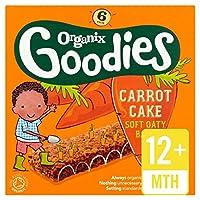 Organixは、有機キャロットケーキのシリアルバー6×30グラムをグッズ (x 4) - Organix Goodies Organic Carrot Cake Cereal Bar 6 x 30g (Pack of 4) [並行輸入品]