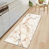 Bath Mat Bathroom Carpet,1 PC Anti-Slip Kitchen Carpet Black White Marble Printed Entrance Doormat Floor Mats Carpets for Liv