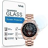 (3枚入り) Frgnie for [マイケル・コース] 腕時計 Bradshaw 2 スクリーン保護フィルム, 9H 強化 ガラス 保護フィルム 対応 Michael Kors Access Bradshaw 2 Smartwatch