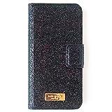 (ケイトスペード) katespade アウトレット 手帳型 iphone6/6s レザーケース WIRU0470(001) iphone6/6s folio グリッターブラック [並行輸入品]