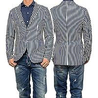 (タリアトーレ)TAGLIATORE メンズシングル2Bジャケット MONTECARLO / 1SMJ22K 77BEJ076 ネイビー×ホワイト [並行輸入品]