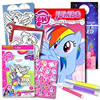 My Little Pony Colouring Book with Take-N-Play Set 96-page Pinkie Pie Colouring Book, My Little Pony Stickers, Markers, & Bonus Sticker by HUB Studios