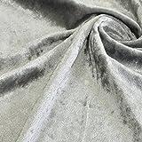 クラッシュベロア生地 112cm幅 50cm単位販売 別珍 ベルベット 舞台 衣装 コスモテキスタイル (シルバー)