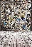aofoto 3x 5ft写真バックドロップ芸術的背景写真スタジオ小道具ビニール壁紙Shabbyポスタービルボード・ペーパー壁木製床Kid Man Boy Girl Portrait - Best Reviews Guide