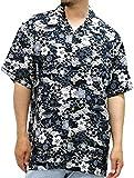 ROUSHATTE(ルーシャット) 大きいサイズ メンズ シャツ 半袖 アロハシャツ チャコール 5L