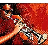 ArtzFolio Trumpet Player Unframed Premium Canvas Painting 27.8 x 24inch