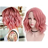 STfantasy Fashion Bob Short Pink Curly Wig for Women Girl Everyday Daily Costume Cosplay Party