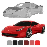 Car Coloring by Number: Sandbox Coloring