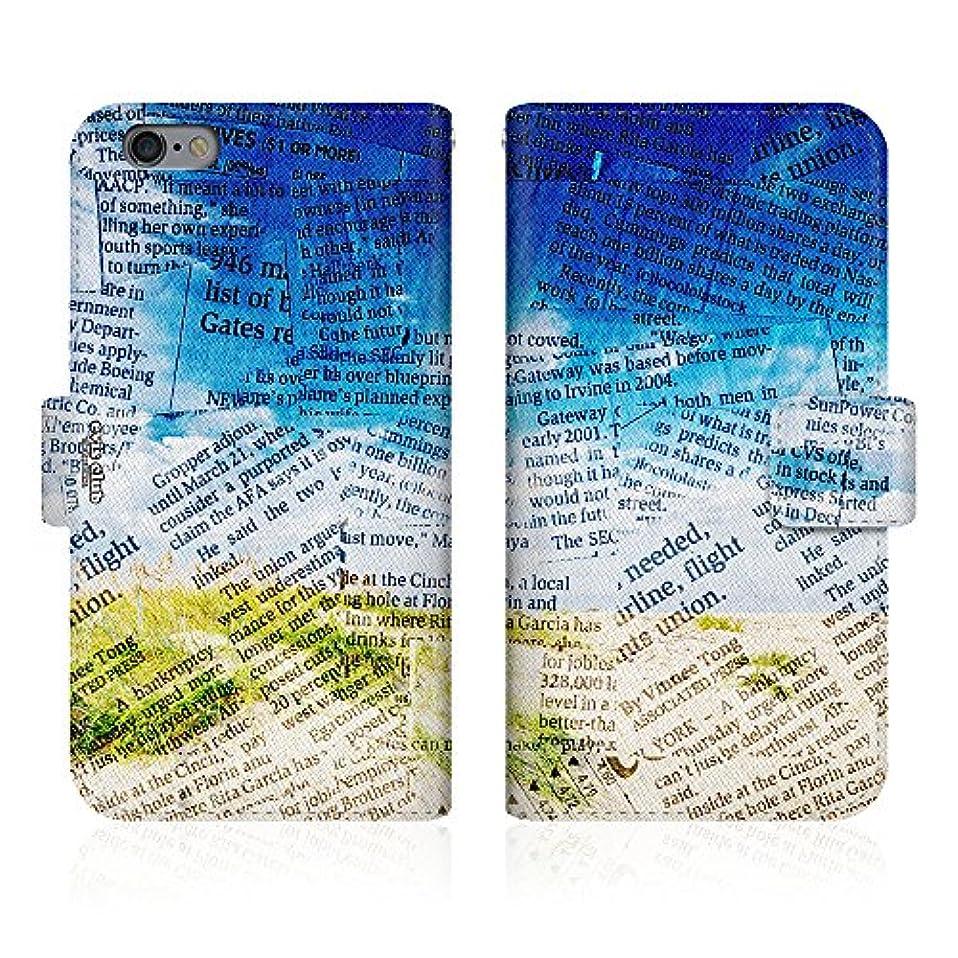 スクランブルトランスペアレント一流Evis Club 手帳型 スマホケース 薄型 apple iPhone XR iPhoneXR OLD 新聞柄 砂浜 南国 タヒチ ハワイ 2766