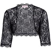 JS Fashion Vintage Dress Women's Long Sleeve Floral Lace Shrug Bolero Cardigan JS49