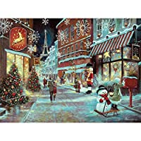 Bits and Pieces–1000Piece Glitterジグソーパズルfor Adults–パリのクリスマス–1000pc休日、Eifel Tower Jigsaw by Artist Ruane Manning