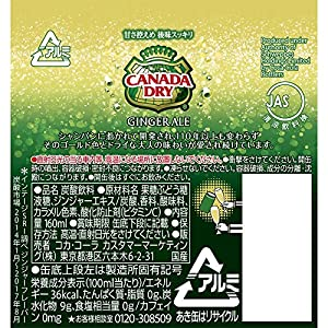 コカ・コーラ カナダドライ ジンジャーエール 缶 160ml×30本