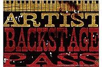 冷蔵庫用マグネット Fridge Magnet Nostalgic Motif M.A. Allen Artist Backstage Pass