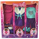 My Life As A Day in the Life Doll Clothing Set, Pink and Purple