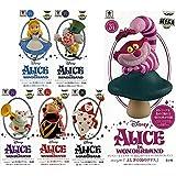 6種セット【ふしぎの国のアリス】ディズニーキャラクターズ ワールドコレクタブルフィギュア 全5種 + MEGAワーコレA 1種