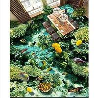 ShAH ウォールステッカー ブライトマリンライフ 厚手 防水 浴室 床 キッチン バルコニー 地面 STE タイル ShAHxc46289-5827