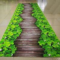 ZZHF トレイル3D印刷カーペット/階段通路マット/ベッドルームリビングルーム/クリエイティブマット/バルコニーパッド カーペットの下敷き ( 色 : C , サイズ さいず : 100*120cm )