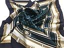 シルクスカーフ ST889067 Coat of Arms, 日本製, シルクツイル, 横浜産シルクスカーフ, ブランドケース入り (グリーン)