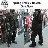 15-16 HOLDEN ウェア ホールデン スノーボードウェア Spring Break x Holden One Piece スプリングブレイク メンズ (BLACK, M)