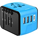 Disgian Travel Adapter, Universal International Power Adapter with 3USB Port And Type-C International Wall Charger Worldwide