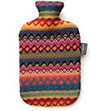 Fashy ファシー 湯たんぽ レッド 2L Hot water bottle with cover in Peru design 6757 国内検針済