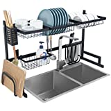 Dish Drying Rack Over Sink Kitchen Supplies Storage Shelf Countertop Space Saver Display Stand Tableware Drainer Organizer Ut