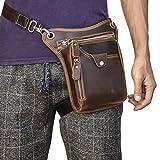 Luufan (ルーファン) ホルスターバッグ 本革 3way レーグポーチ レザー ウエストバッグ メンズ 本牛革 ウエストポーチカジュアル バッグ 携帯、財布収納 アウトドア (ブラウン1)
