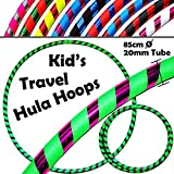Kid 's Hula Hoops–品質Weighted子供のフラフープ!GREAT for Exercise、ダンス、フィットネス& Fun 。No必要な指示。Same Day Dispatch 。 ブルー