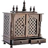 TAM Creatio Wooden Temple/Pooja mandir for Home. (Brown)