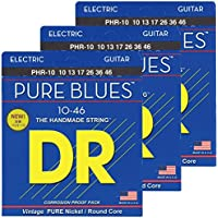 DR エレキ弦 PURE BLUES ニッケル .010-.046 PHR-10 3SET パック