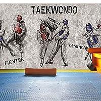 Wuyyii カスタムテコンドージムボクシングの背景武道パビリオン背景装飾的な壁3D壁の壁画壁紙
