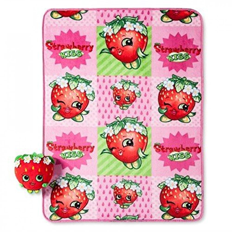 [Moose]Moose Shopkins Strawberry Kiss Pillow and Throw Set Pink [並行輸入品]
