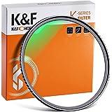 K&F Concept MC UVフィルター 77mm 保護フィルター 99% 透過率 紫外線カット 光学ガラス 多層コーティング 薄枠 レンズフィルター(77mm Lens Filter)