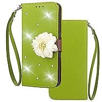 Xiaomi Redmi 6A シェル, Moonmini [ ポータブル 財布 ] [ スリム 合う ] 重い 義務 保護 グリップ フリップ カバー 財布 シェル の Xiaomi Redmi 6A - Green